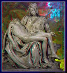 Pieta: Michelangelo: Anaglyph