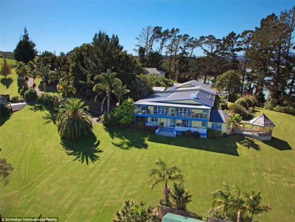 Helicopters: This home, set in 330 acres of land and complete with its own helipad, fishing ranch, cinema and 22 bedrooms across four different houses - not to mention the swimming pool complex (picture above)