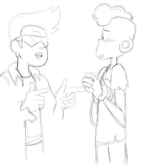 Heeehhh I found this on my laptop. Totally forgot about it. Buck/Lars, awww yeah. Well, kinda.