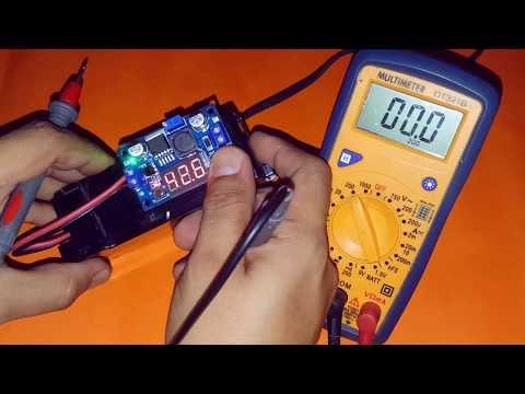 Módulo regulador ajustable LM2596 con voltímetro integrado
