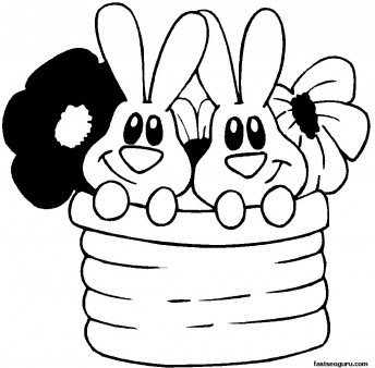easter bunny print out  clipart best