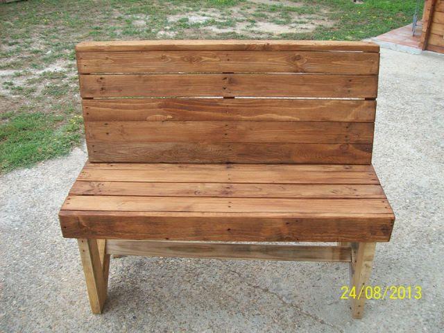 DIY Pallet Bench Instructions | Pallet Furniture Plans