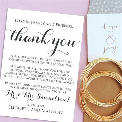 Simple Thank You Cards For Wedding 2017   Wedding