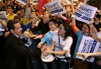 Nicolas Sarkozy en meeting