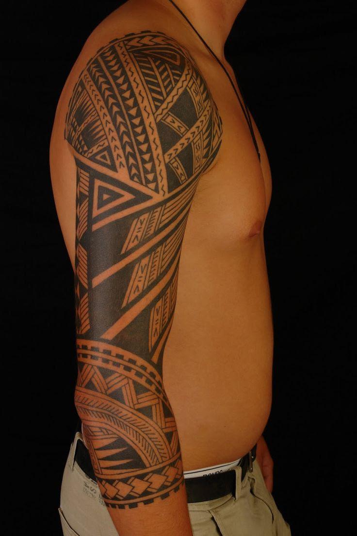 Arm tribal mann tattoo Oberarm Tattoo