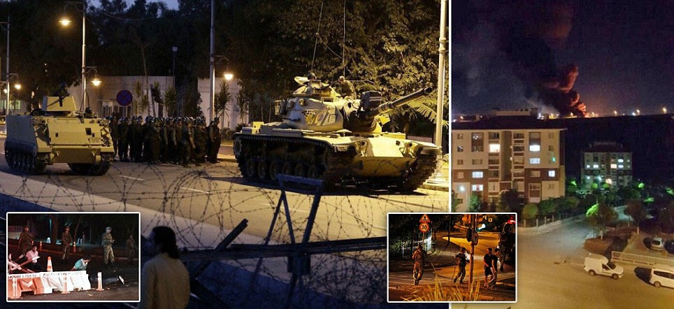 Turkish military launch attempted coup to depose government