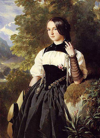 A Swiss Girl from Interlaken  Franz Xaver Winterhalter
