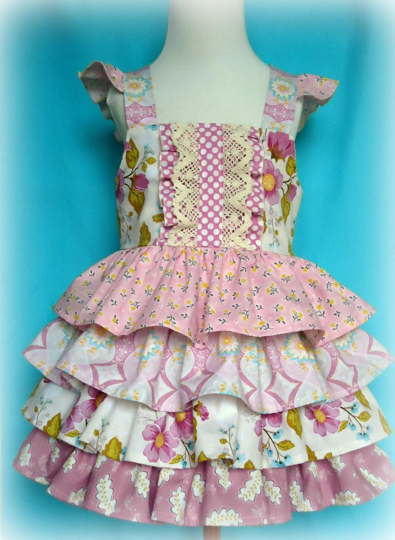 Ruffle Me Pretty Dress Tiered Ruffle Reverse Knot Dress with flutter ruffle straps