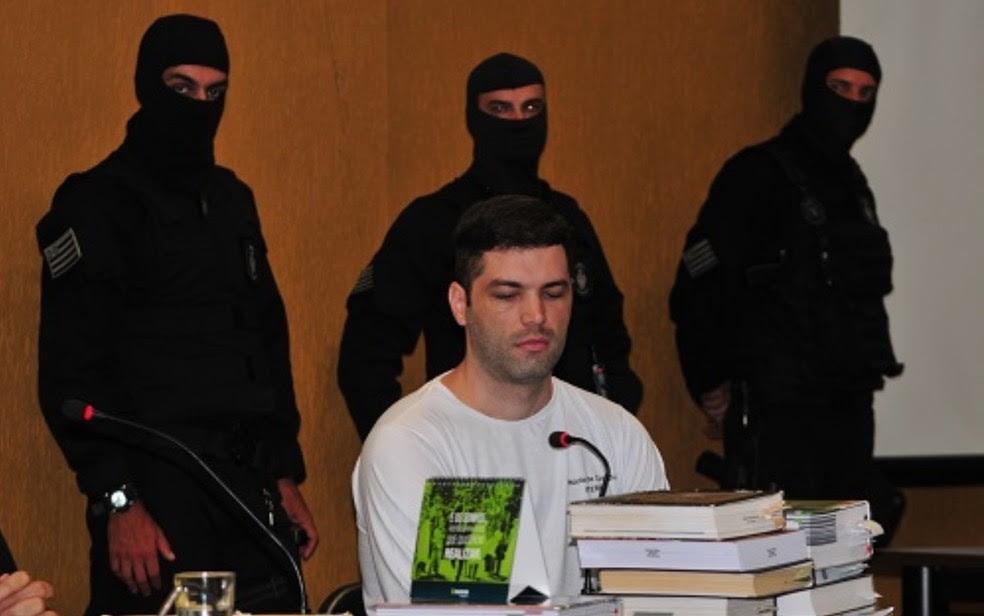 Tiago Henrique é condenado a 25 anos de prisão por morte de garota de programa (Foto: Reprodução/TJ-GO)