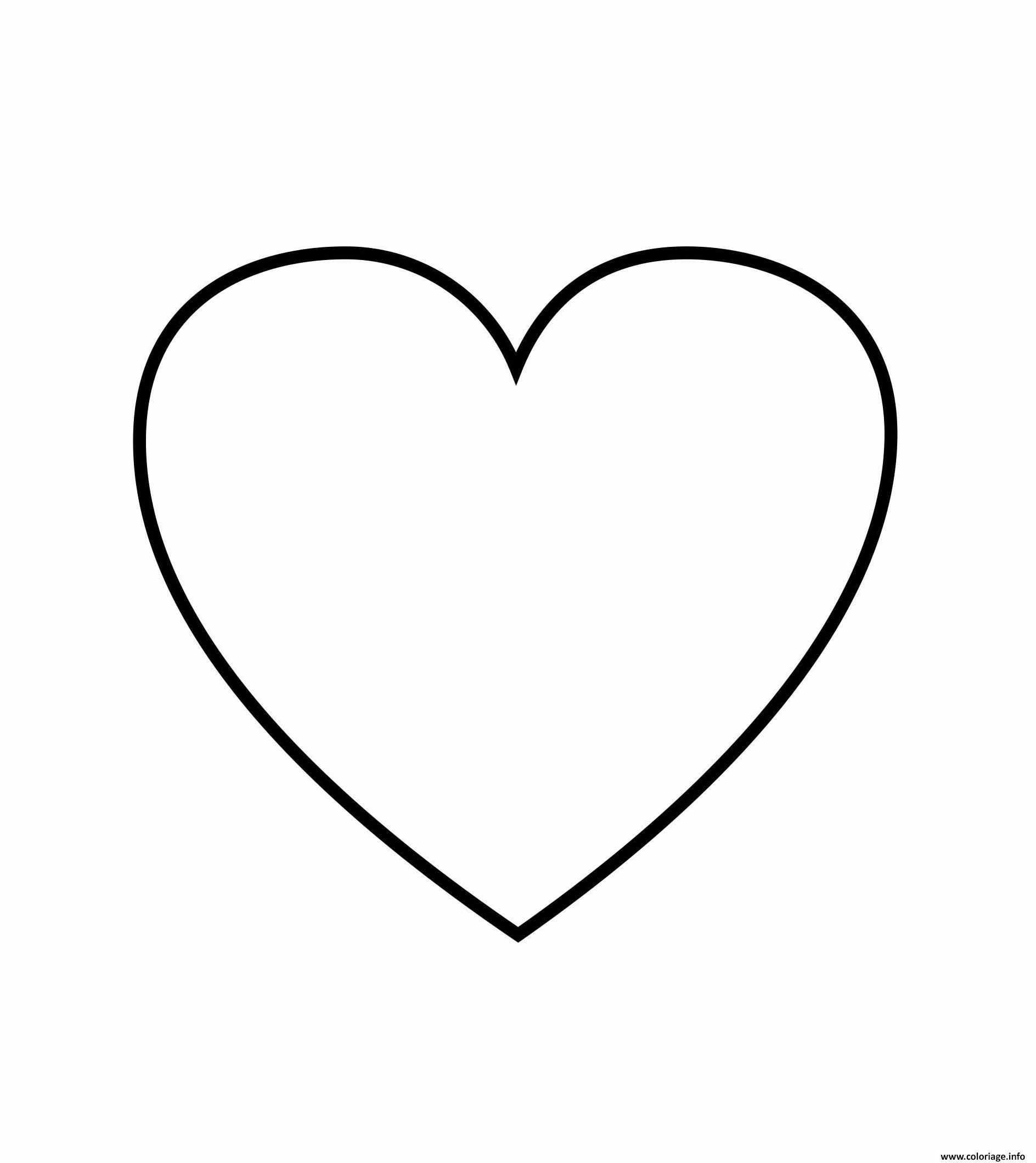 Coloriage Coeur 111 Dessin  Imprimer