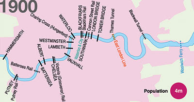 Map Of London Bridges Over The Thames.All About London