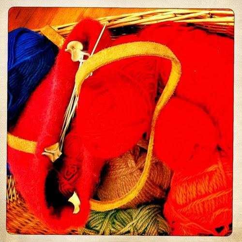 yarn at mom's craft day