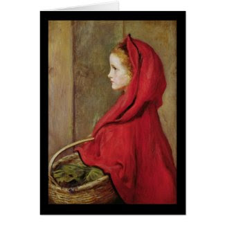 Little Red Riding Hood by John Everett Millais Card