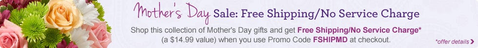 Mother's Day Sale: Free Shipping/No Service Charge