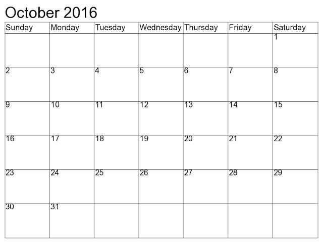 October 2015 Blank Printable Calendar templates Editable ...