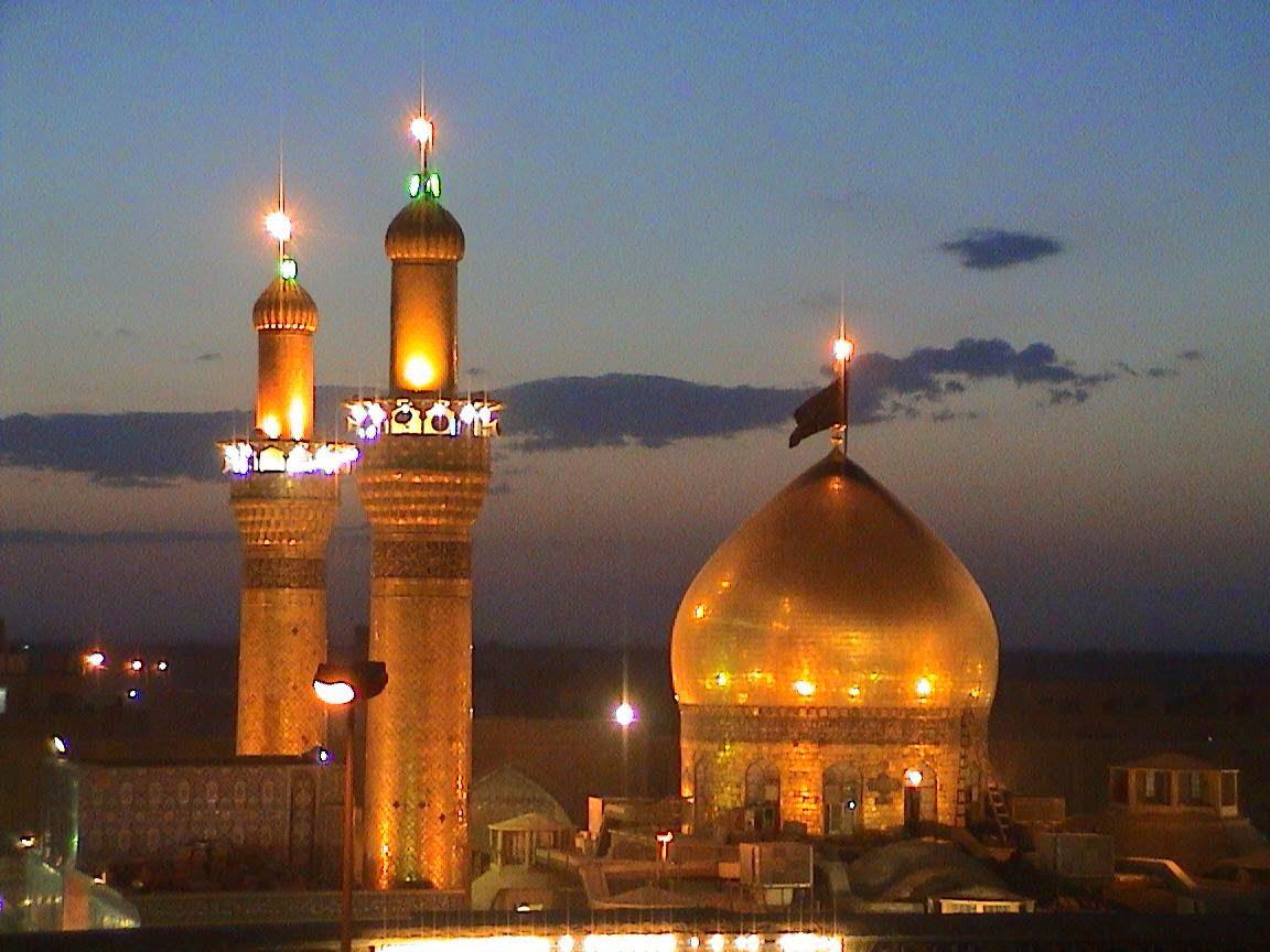 Le « Dôme d'or », mausolée de l'Imam Hussein