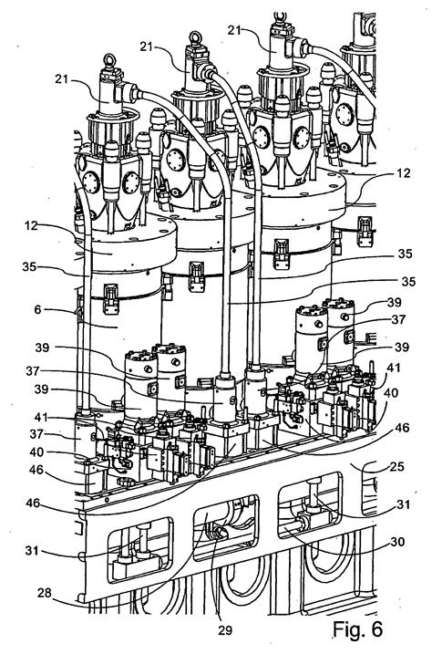 Patent EP2138703B1 - Large uniflow two-stroke diesel