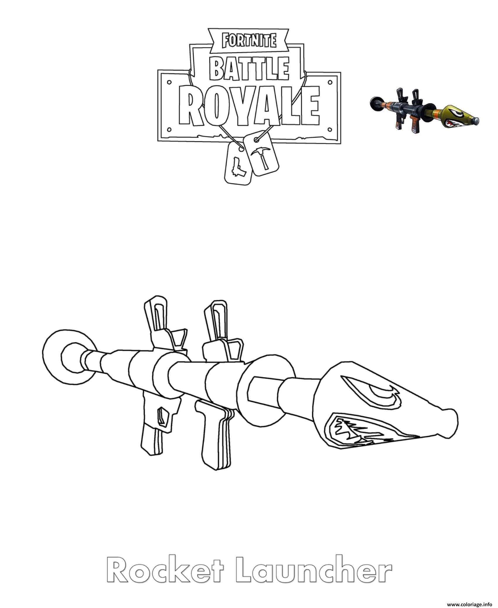 Coloriage Rocket Launcher Fortnite Jecoloriecom