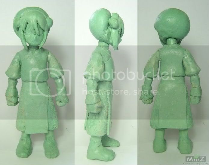 Toph action figure wax sculpt wip 053108/><br/><br/><div align=