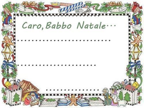 letterine di babbo natale da stampare,letterine di babbo natale,lettera a babbo natale, babbo natale,bigliettini babbo natale,