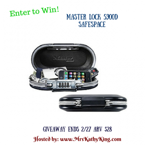 Enter the Master Lock 5900D SafeSpace Giveaway. Ends 2/27