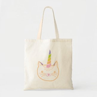 Kitty Unicorn Canvas Bags