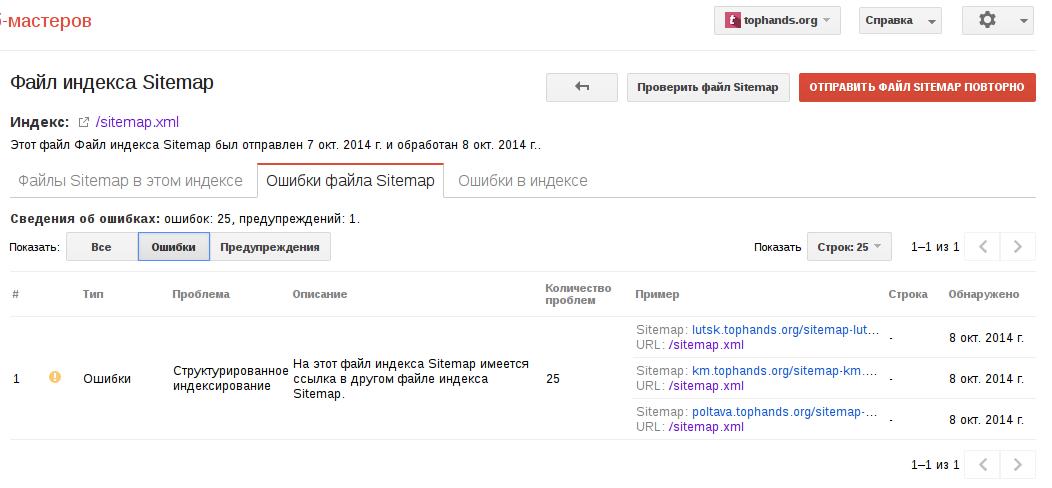 Ошибика в sitemap xml google product forums