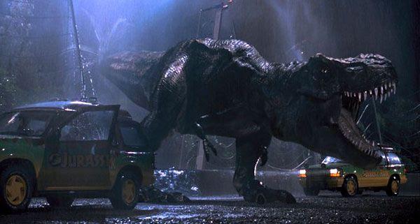 The Tyrannosaurus Rex is on the loose again in JURASSIC PARK 3D.