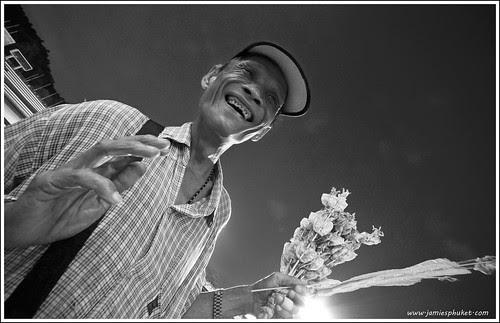 Squid seller at Phuket football game