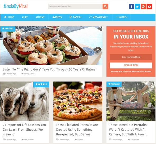 SociallyViral Viralnova WordPress Theme
