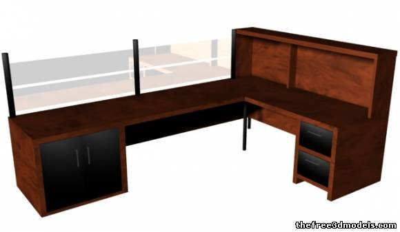 Office Computer Desk - 3d model - .
