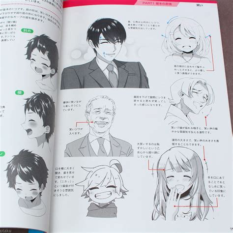 draw facial expressions anime art guide book