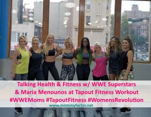 Talking Health and Fitness with WWE Superstars and Maria Menounos at Tapout Fitness Workout