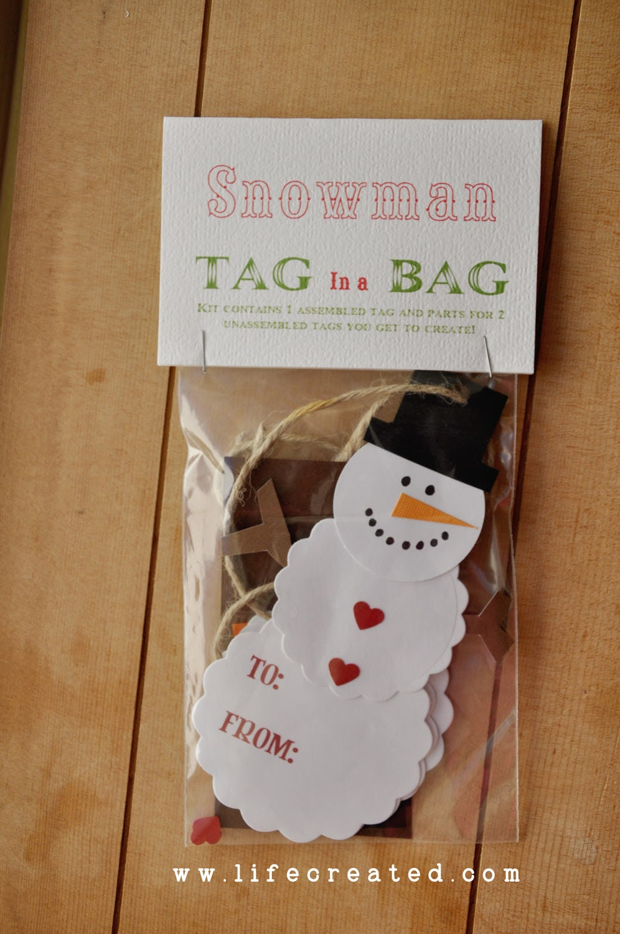 Snowman Bag Tag Kit, DIY