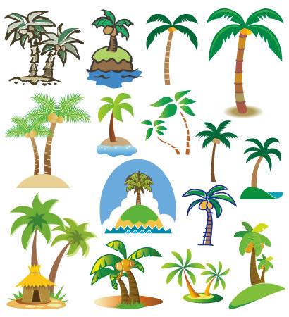 ヤシの木椰子のイラストaieps ベクタークラブイラストレーター