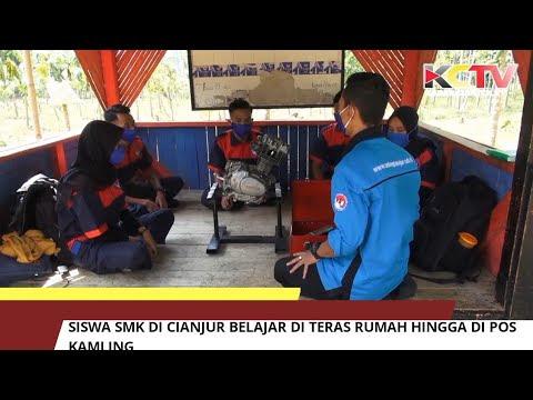 Siswa SMK Di Cianjur Belajar Di Teras Rumah Hingga Di Pos Kamling