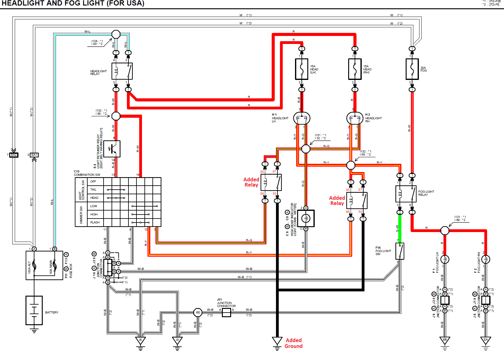 Toyota Headlight Wiring Diagram Wiring Diagram Web A Web A Reteimpresesabina It