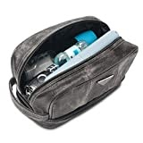 #4: Leather Toiletry Bag for Men - Dopp Kit for Mens Toiletries by LVLY - Travel Bags for Shaving Grooming and Bathroom Accessories