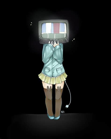 anime tv head google search aesthetics object heads