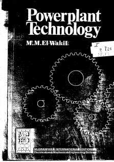 Power plant Technology by M.M. El-Wakil