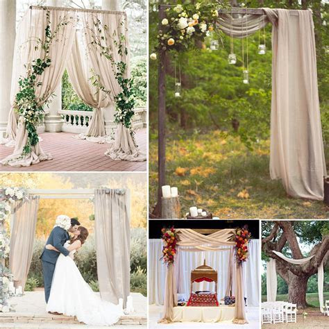 5M Nude Chiffon Fabric For Wedding Backdrops Party