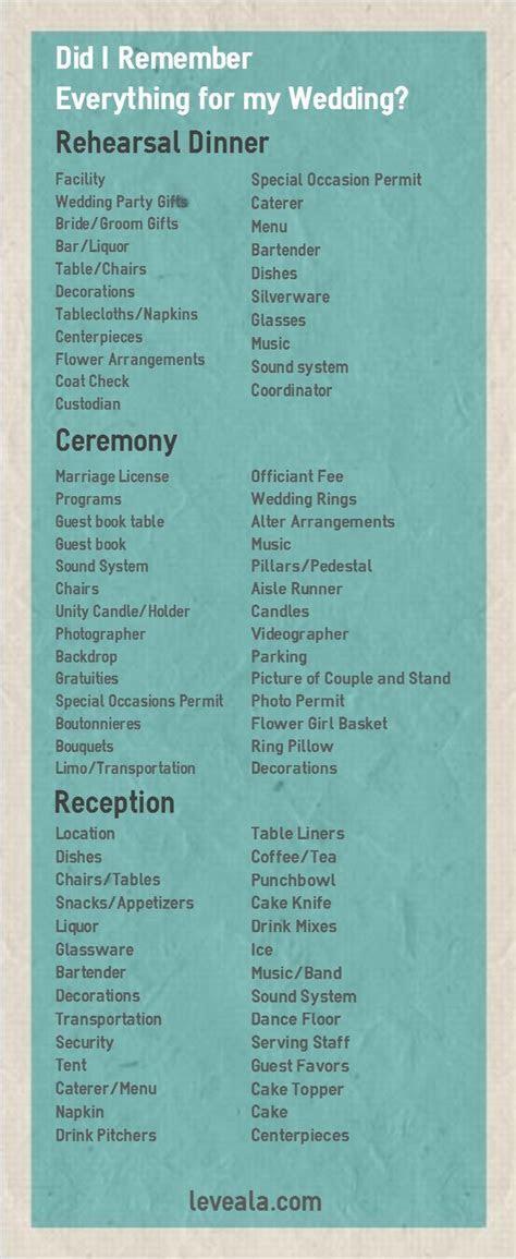 25  best ideas about Wedding ceremony checklist on