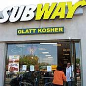 Kosher Subway shop in Los Angeles