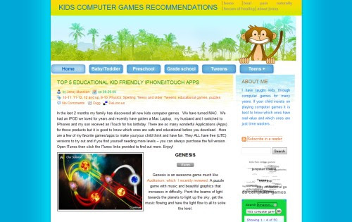 Non Violent Computer Game Recommendations for Kids