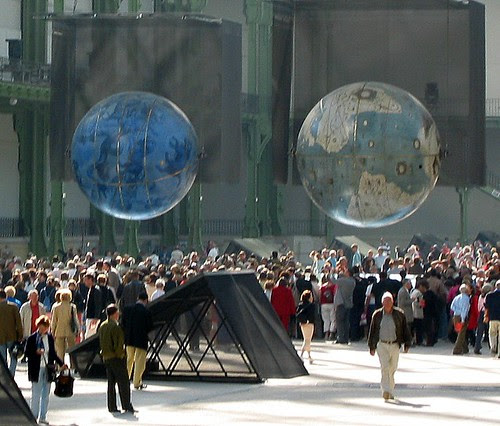 Globes de Coronelli, Grand Palais by Pierre Metivier, on Flickr