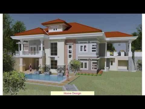 Berikut Desain Rumah Mewah 2 Lantai Dengan Kolam Renang ...