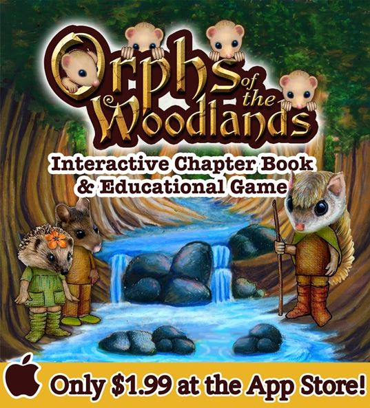 Orphs of the Woodlands at Tanglegate Review, interactive book, online reading program, early chapter book, homeschool elementary supplement, math, science, grammar, vocabulary, character, summer reading program, gifted, struggling reader