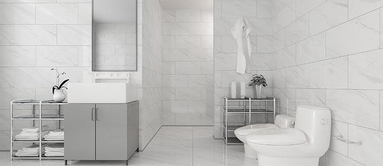 Bathroom Wall Tiles - Use Polished Porcelain tiles for ...