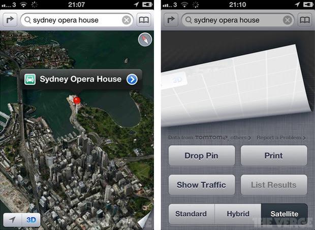 Mapas da Apple (Foto: Reprodução/The Verge)
