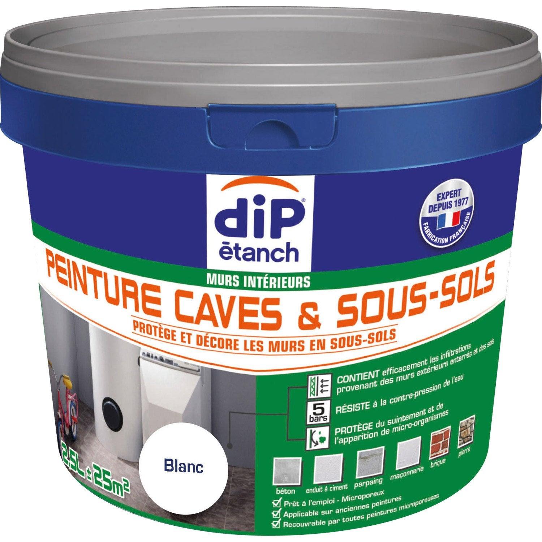 Peinture Cave Et Sol Peinture Cave Sous Sol Dip Blanc 25 L